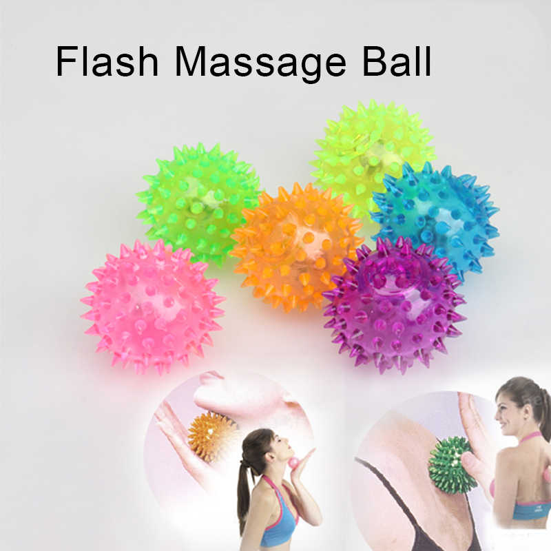 Hot Selling Flashing Light Up Spikey Alta Bouncing Balls Novidade Sensorial Hedgehog Bola