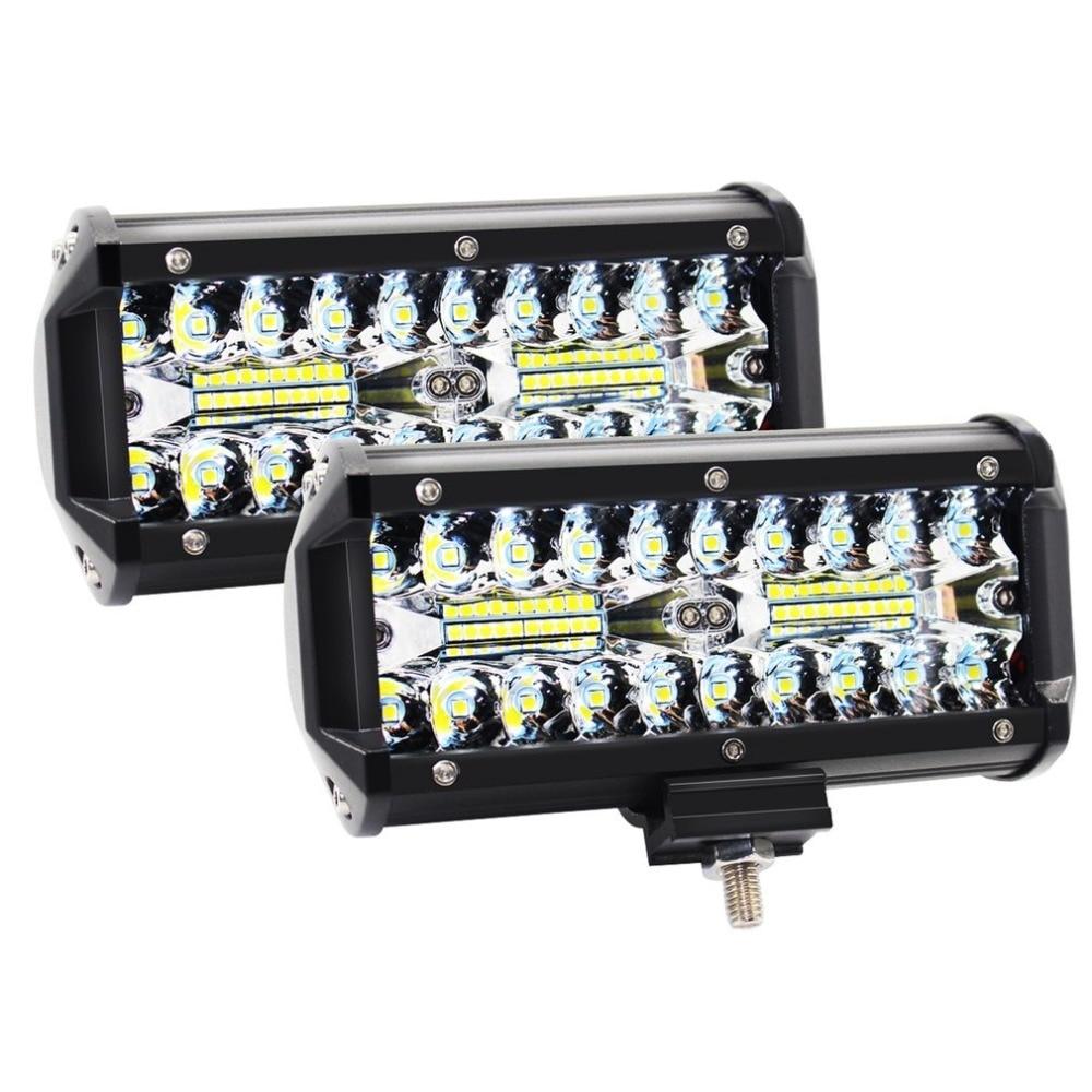 7 Inch 120W LED Light Bar Waterproof LED Pods Spotlight Fog Driving Lighting Lamp For Off Road Truck Car SUV Boat Durable Hot