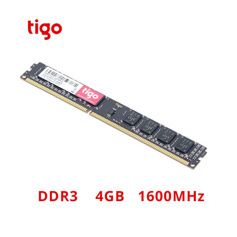 Tigo DDR3 4G 1600MHz RAM Brand New Memoria DDR 3 4GB DIMM 240PIN Memory 100% Original For Desktop PC