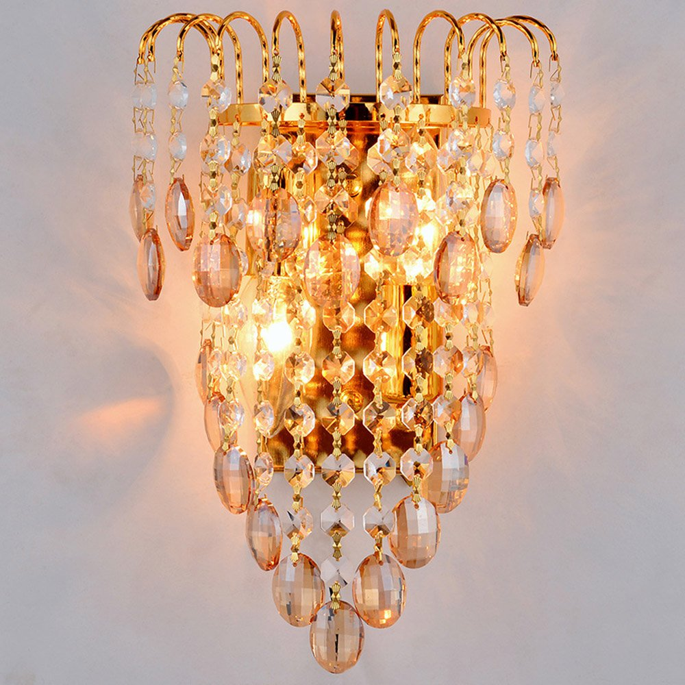 Golden Royal King Imperial Crown Bedsides Luxury Tawny Crystal Hanging Bedroom Wall light Modern Romantic Corridor Wall Lamp royal apothic гель для душа imperial vanilla 240ml