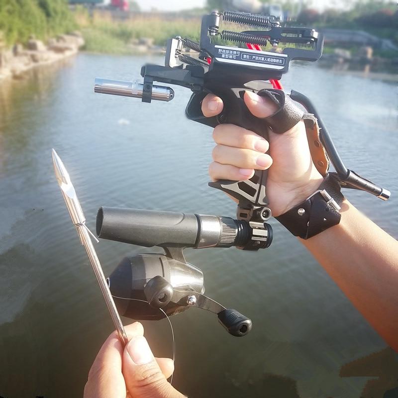 Hunting Powerful Full Set Fishing Slingshot G5 Estilingue Crossbow Bolts Laser Slingshot Catapult Stainless Steel Compound