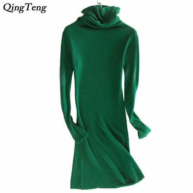 Aliexpress.com : Buy Brick Red Women Dress Long Sleeve