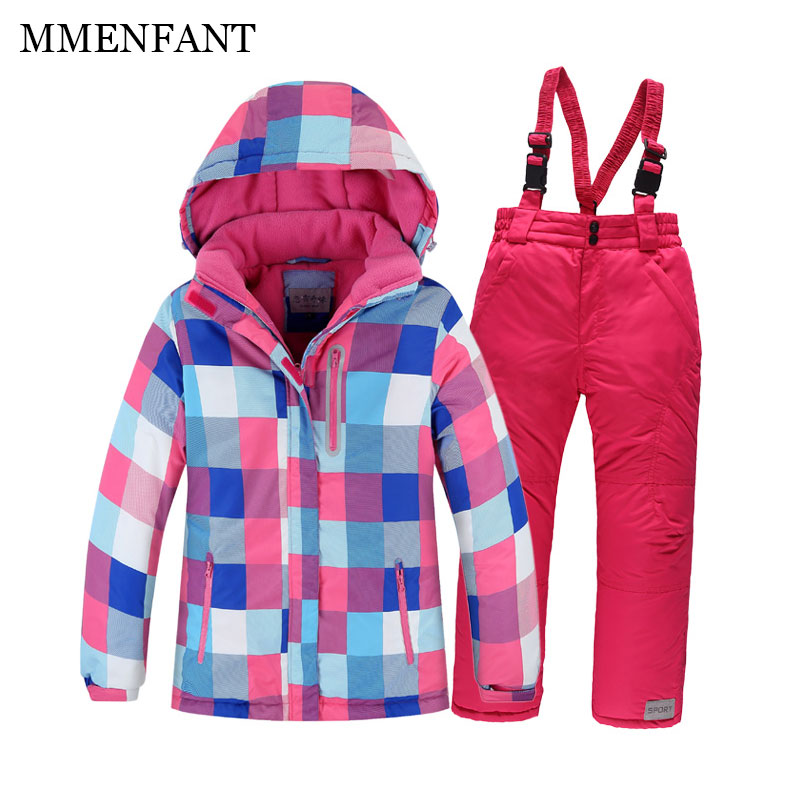 Family matching christmas mother and daughter clothes men and women snow sets winter kids ski suit boys and girls warm jackets