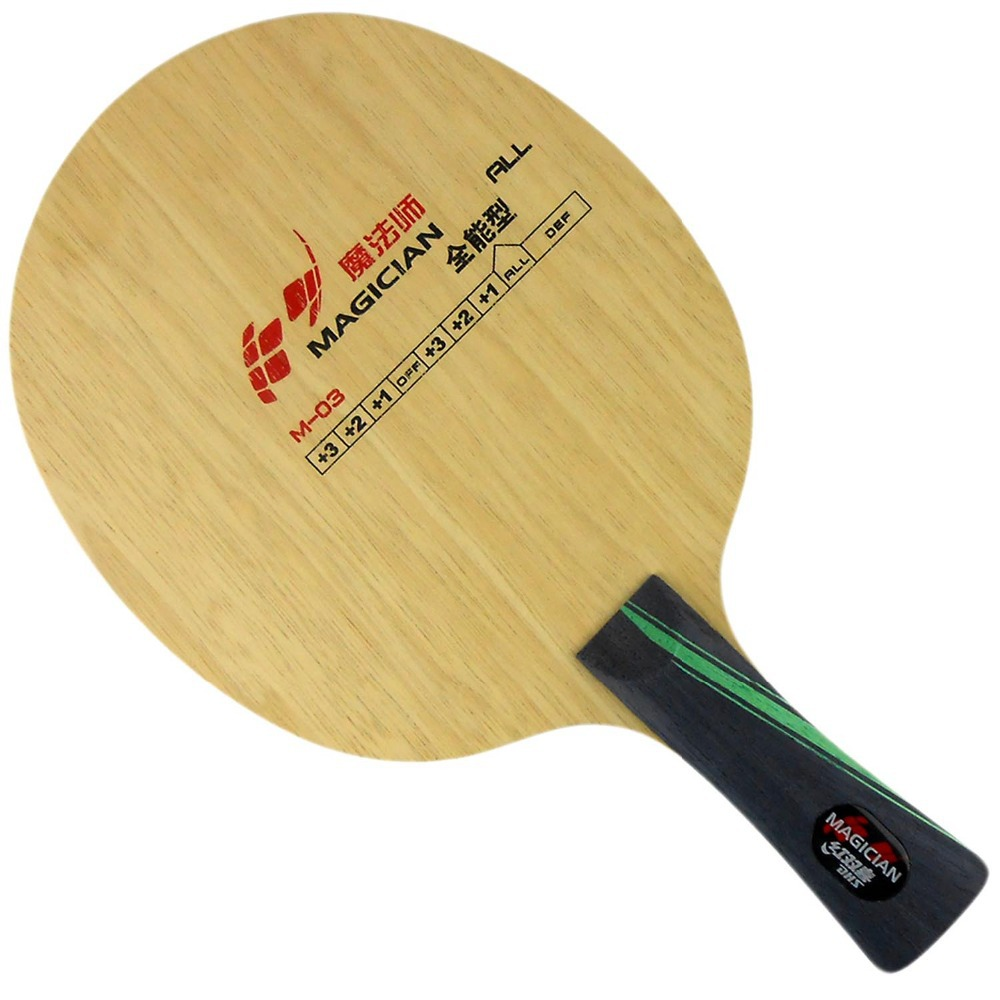 DHS Magician M-03 Table Tennis Blade (Shakehand)-FL for PingPong Racket dhs dipper sp02 sp 02 sp 02 inner carbon all table tennis blade fl for pingpong racket