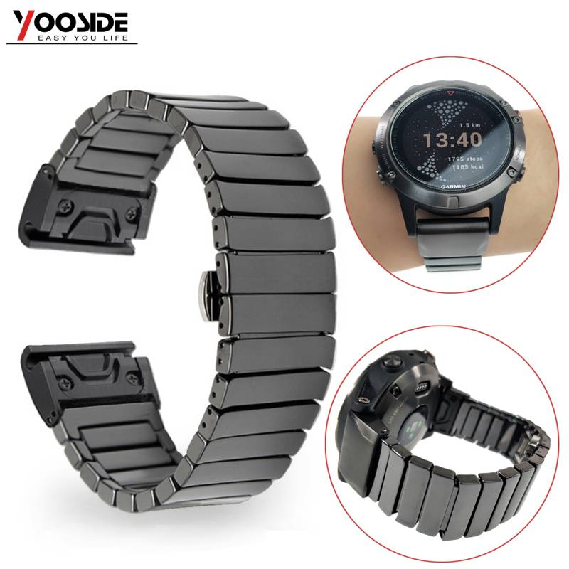 YOOSIDE 22 ミリメートルセラミック蝶バックルクイックフィット時計バンドストラップガーミンフェニックス 5/5 プラス/フォアランナー 935/ quatix 5/アプローチ S60  グループ上の 家電製品 からの スマート アクセサリー の中 1