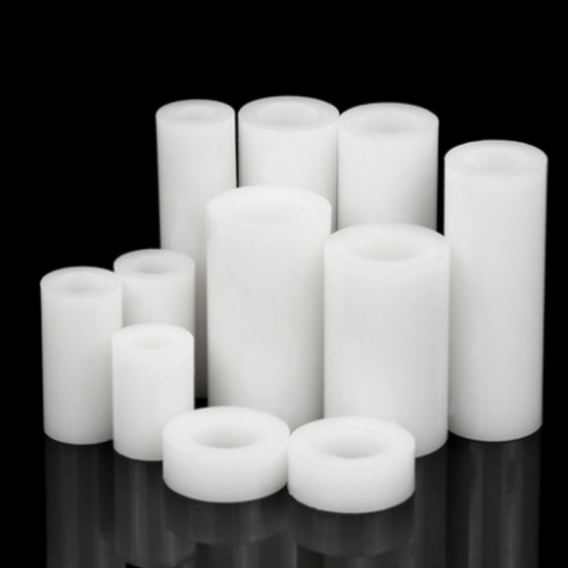 20PCS M5 M6 <font><b>M8</b></font> Nylon Double-pass Pad High Straight Through Column Plastic <font><b>Washer</b></font> Round Hole Spacer image
