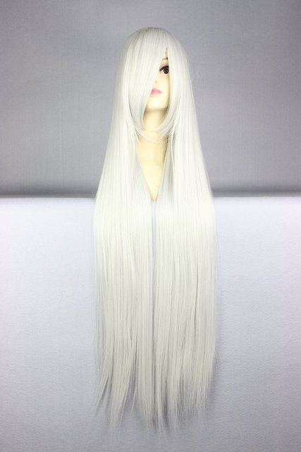 MCOSER Cosplay Wig New COS Silvery White Wigs Long Straight Hair Wig Long Hair wigs