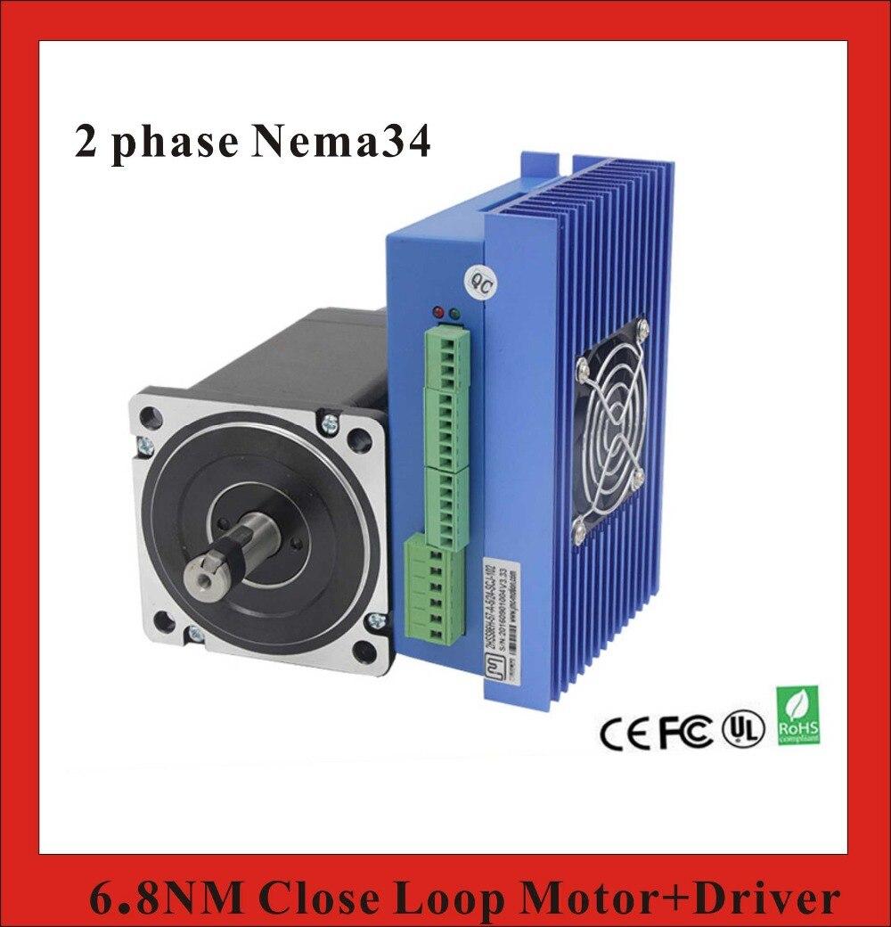 все цены на  2 phase 6.8N.m Closed Loop Stepper Servo Motor Driver Kit 86J1895EC-1000+2HSS86H CNC Machine Kit  онлайн