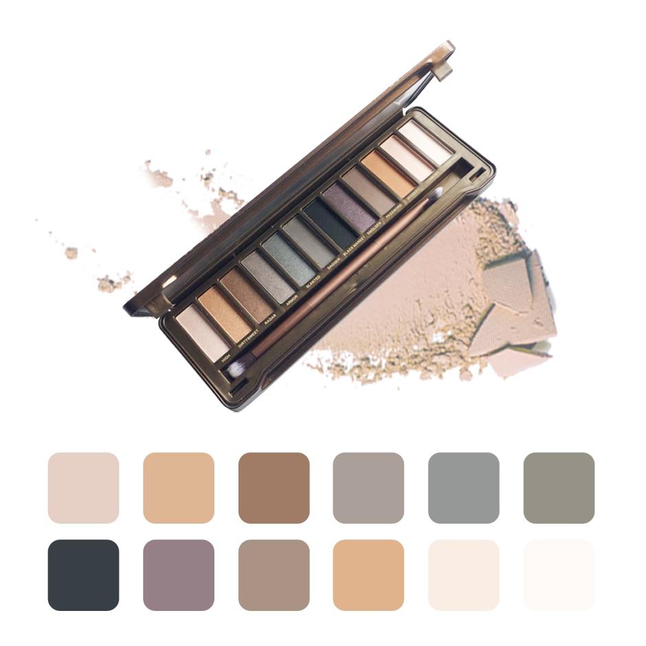 Paleta de sombra profissional 12 cores destaque