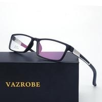 Vazrobe Sports Men S Eyeglasses Frame Optical Prescription Spectacles Spring Hinge Square Fashion Eye Glasses Myopia