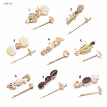 Fashion Imitiation Pearl Shell Hair Accessories Clips Hairpins Summer Beach Party Women Handmade Clip