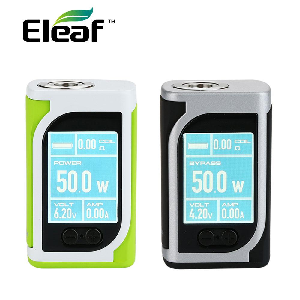 D'origine 50 W Eleaf IStick Kiya TC Boîte MOD 1600 mAh Batterie 1.45 Pouce Couleur Affichage et Extensible Firmware E Cig IStick Kiya Mod