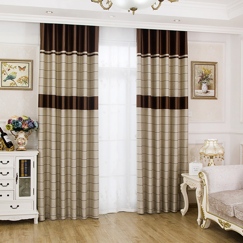 Kitchen Curtains Fabric Curtains Fabric Stripe Drapes: [byetee] Window Blinds Kitchen Curtain Fabric Striped