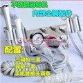 Alta Calidad 2016 unidad Dental portátil 2 unids tubo pieza de mano + jeringa + eyector de saliva
