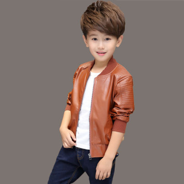 ideacherry Boys Spring PU Coat Children Kids Winter Thick Fleece PU Leather Jackets Baby Boys Clothes Warm Boys Clothing Outwear