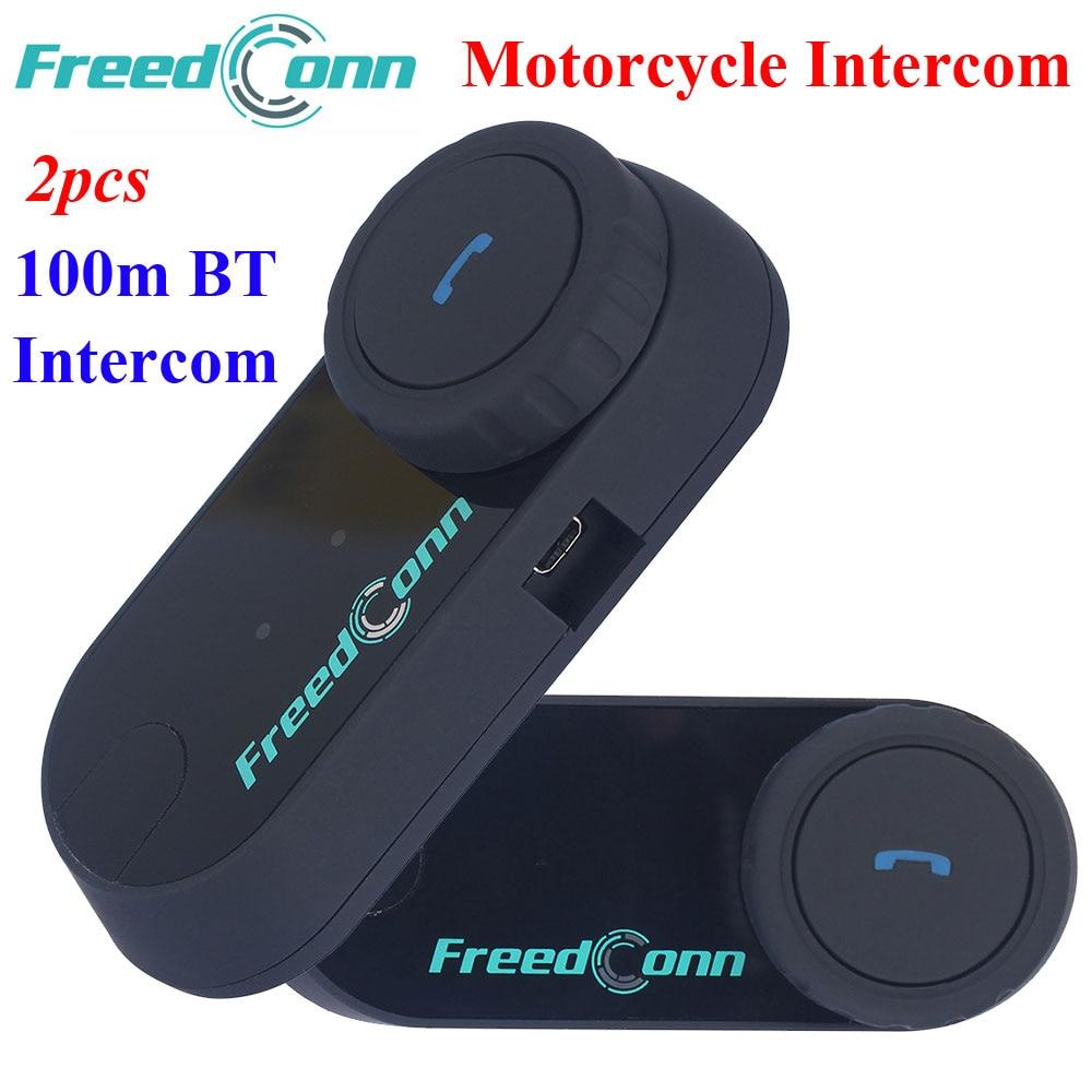 2 Pcs FDC Motorcycle Bluetooth Helmet Interphone Stereo HandFree Headphone Waterproof 100m BT Wireless Helmets Intercom