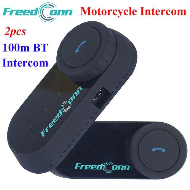 52ff3c361f0 2 adet FDC Motosiklet Bluetooth Kask Interkom Stereo HandFree Kulaklık Su  Geçirmez 100 m BT Kablosuz Intercom