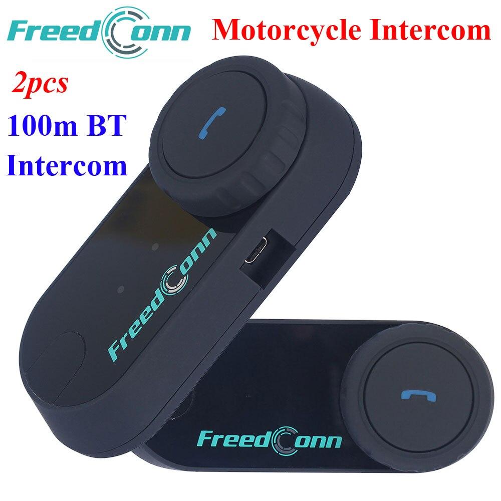 2set Motorcycle Interphone Helmet HandFree Headphone 100M Wireless Helmets Intercom Bluetooth Headsets with FM Radio