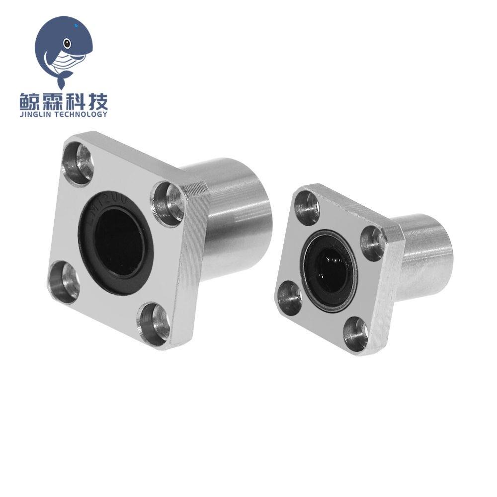 4Pcs LMK8UU 8mm Square Flange Type Linear Bearing Ball Bushing 8x15x24mm