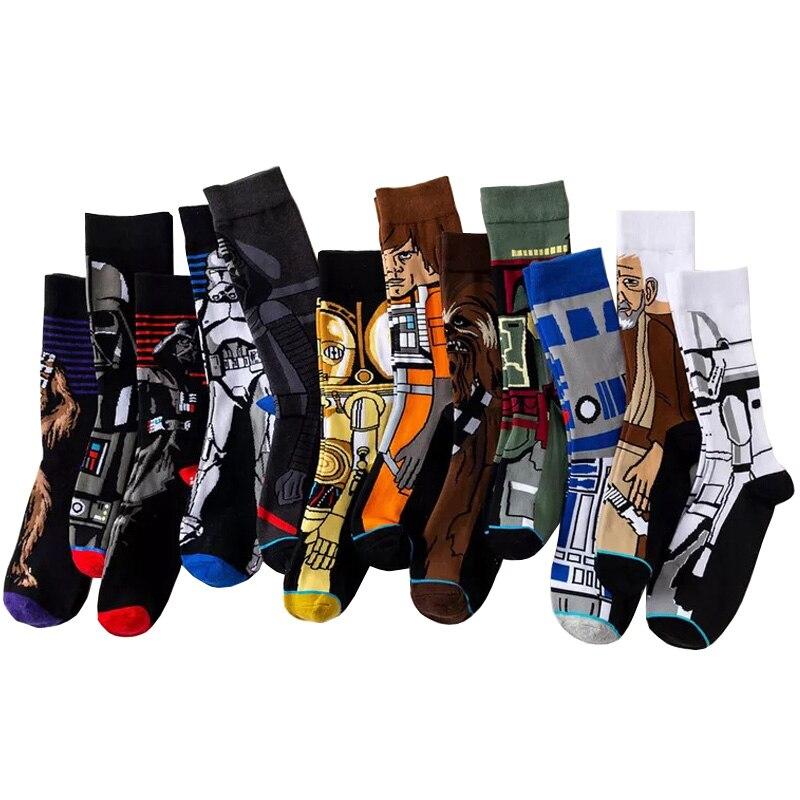 Star Wars Movie Stockings Master Yoda R2-D2 Cosplay   Socks   Wookiee Jedi Knight Novelty Men's Women's   Socks   Spring Autumn Winter