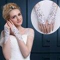 2016 Cristal Frisado Luvas de Casamento Bordados Rendas Pascoa Mais Curtas Tamanho Livre Luva De Noiva Acessórios Do Casamento Do Transporte Rápido GL006