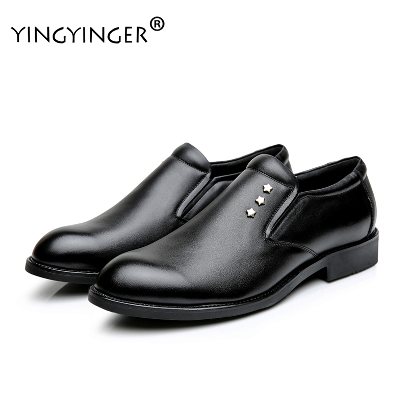 Men's Lace-Up Solid Leather Casamento Wedding Dress Oxfords Formal Derby Shoes Men Sapato Masculino Chaussure Homme ayakkabi