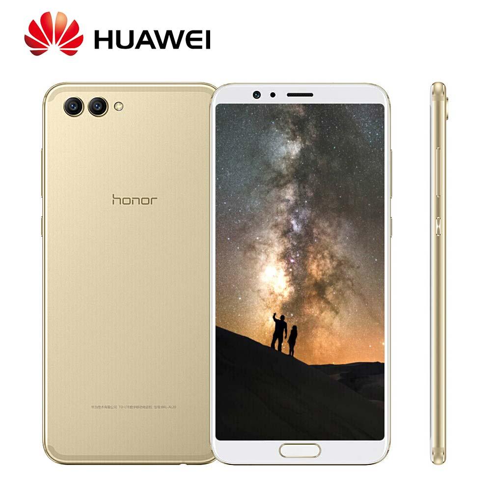 Mondial Rom Huawei Honor V10 20MP + 16MP Double Arrière caméras 3750 mah 5.99 Octa Core 4g LTE mobile Téléphone