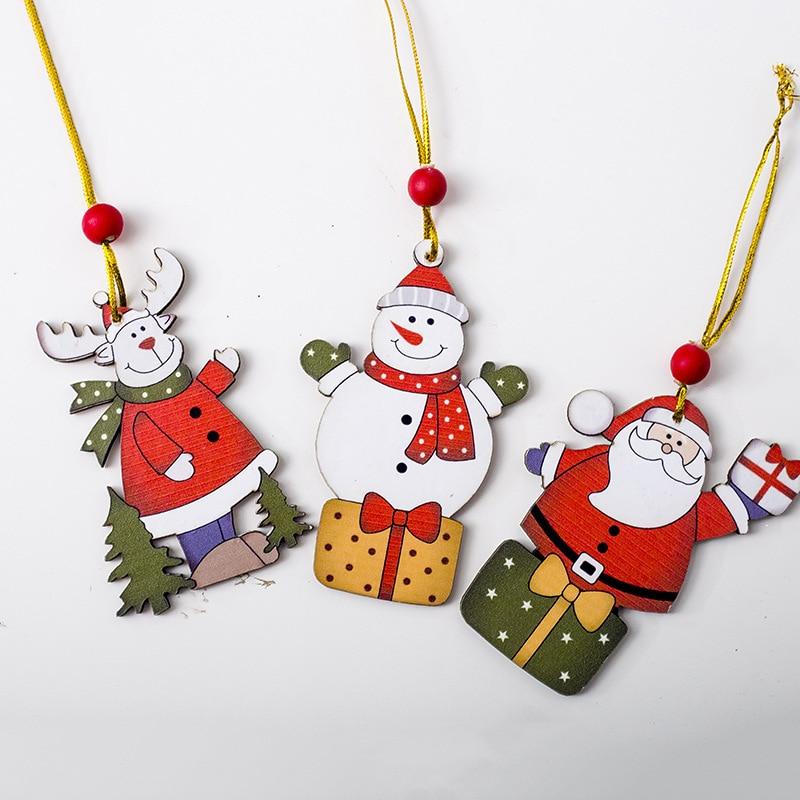 Christmas Decorations Pendant Cartoon Santa Claus Snowman ...