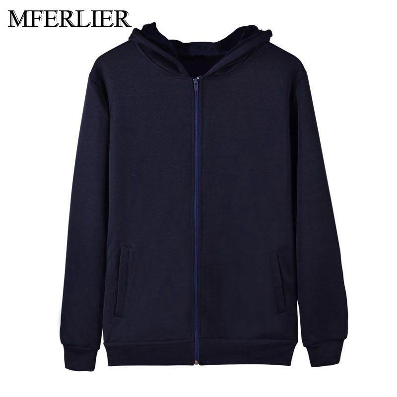 MFERLIER Winter Autumn Men Hoodies Sweatshirts 5XL 6XL 7XL 8XL Large Size Sweatshirts Men Plus Size 5 Color