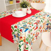 New Arrival Europe Style  Cute Pony Table cloth 100% Cotton Canvas Dinner Table Cover 70*70cm 90*90cm  Accept Customize