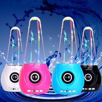 Bluetooth Water Spout Aqua Speaker Support TF AUX USB Subwoofer For Iphone Android Colorful Light Water