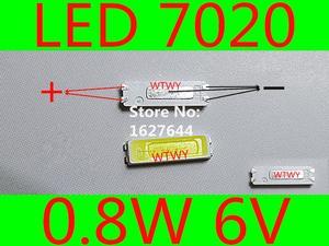 Image 1 - 500 pcs jufei led 7020 led 텔레비젼 역광선 고성능 0.8 w 6 v led 역광선 led lcd 텔레비젼 역광선 신청을위한 차가운 백색