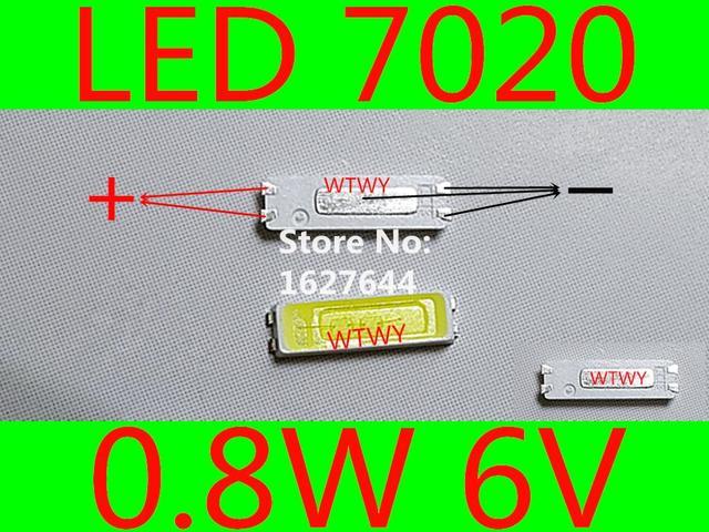 500 pcs jufei led 7020 led 텔레비젼 역광선 고성능 0.8 w 6 v led 역광선 led lcd 텔레비젼 역광선 신청을위한 차가운 백색