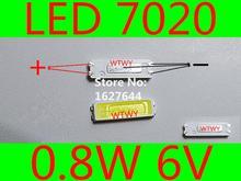 500 stücke JUFEI LED 7020 LED TV Hintergrundbeleuchtung High Power 0,8 watt 6 v Led hintergrundbeleuchtung Kühles weiß Für LED LCD TV Hintergrundbeleuchtung Anwendung