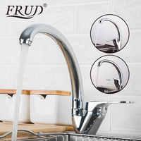 Grifo de cocina FRUD mezclador de cocina mezclador de una sola manija grifo de agua grifo de grifo mezclador de cubierta de cocina