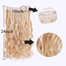 Long Synthetic Hair Clip In Hair Extension Natural Wavy Hair Piece