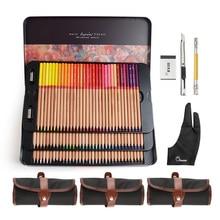 Марко Ренуар Fine Art Professional цветные карандаши 100 цветной набор + 3 роликовые сумки + противообрастающие перчатки с двумя пальцами