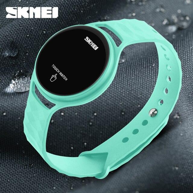 Светодиодные часы Для женщин Водонепроницаемый SKMEI Марка Мода сенсорный цифровой наручные часы для Для мужчин Для женщин студент Спортивные часы