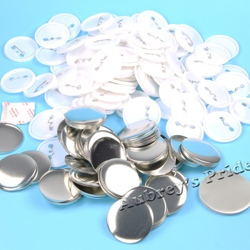 Darmowa wysyłka 1 000 zestawy 2-1 4 #8222 58mm z tworzywa sztucznego Pin guzik płaski materiały dostawy dla odznaka przycisk ekspres do tanie i dobre opinie 2-1 4 58mm 100-499 Sztuk