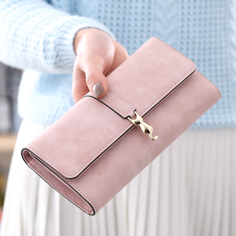 2018 New Brand Long Women Coin Purse Designer Female Wallet Clutch Leather Hasp Ladies Purses Luxury Women Wallets Card Holder new fashion women leather wallet deer head hasp clutch card holder purse zero wallet bag ladies casual long design wallets