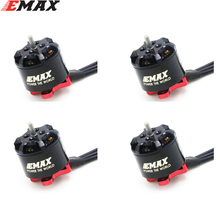 4 set/lote emax rs1106 ii 4500kv 6000kv 7500kv mini motor sem escova rc fpv racing mini violento quadcopter indoor