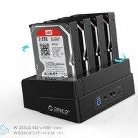 ORICO 6648US3-C 4 מפרץ hdd עגינה תחנת USB 3.0 כלי משלוח Off-קו מעתק עבור 2.5/3.5 אינץ HDD SSD מקרה