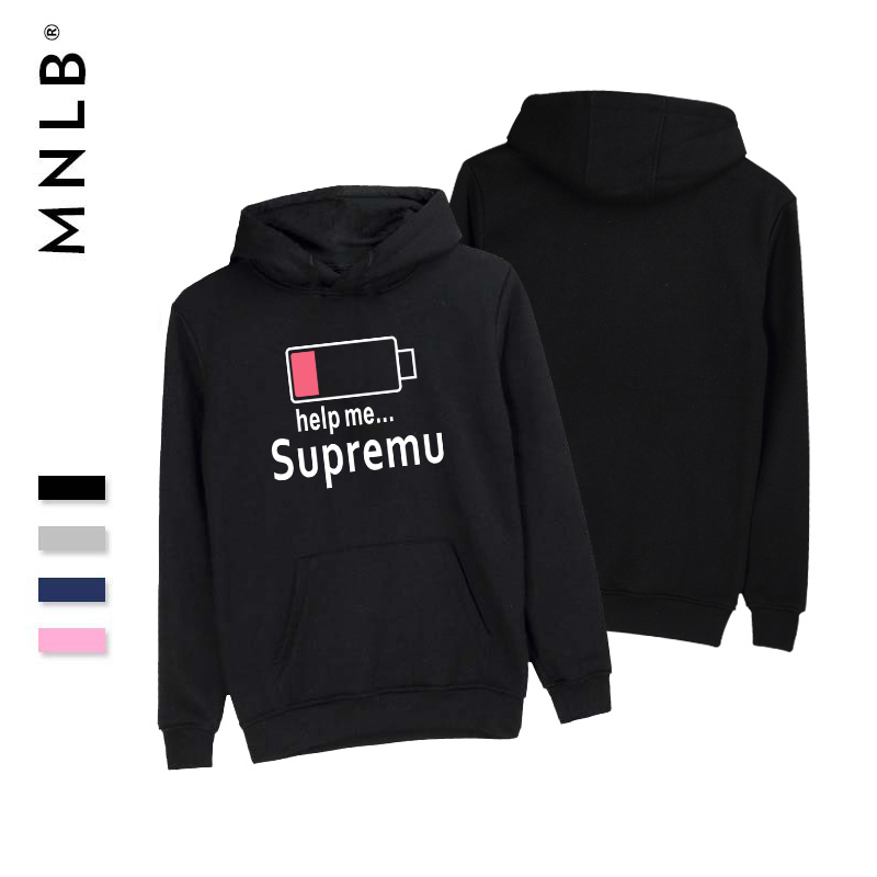 SMZY Supremu Help Me Hoodies Men Winter Warm Comfortable Sweatshirts Men Pop Funny Print ...