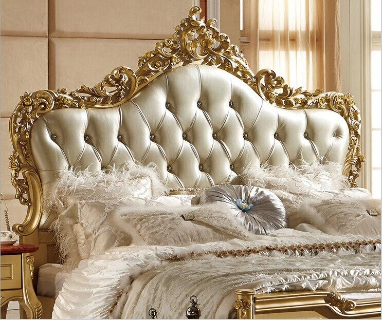 Latest Design European Style Modern Italian Leather Bed