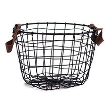 Nordic Iron Hollow Design Storage Basket Dirty Clothes Storage Basket Home Office Snacks Grocery Basket