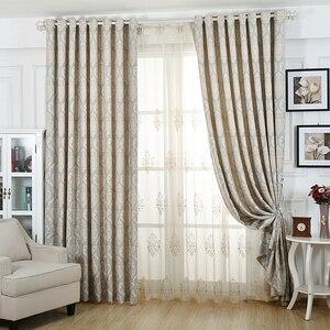 Европейские шторы из Дамаска, роскошные жаккардовые шторы, шторы для окон, панели для обработки гостиной, свадебные газовые WP245C