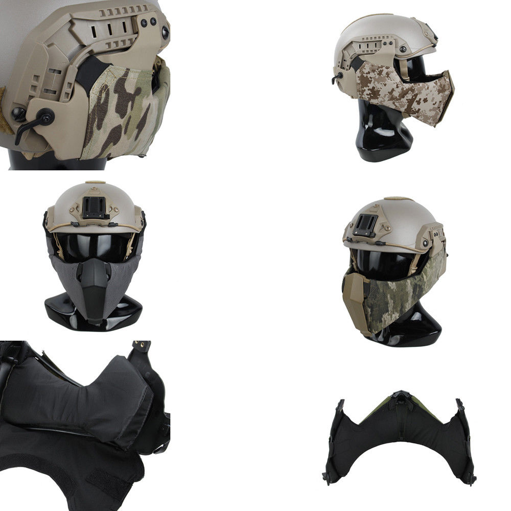2889 Mandible Tactical Guide Rail Connection Half Face Mask for OC Highcut Helmet fire maple sw28888 outdoor tactical motorcycling wild game abs helmet khaki