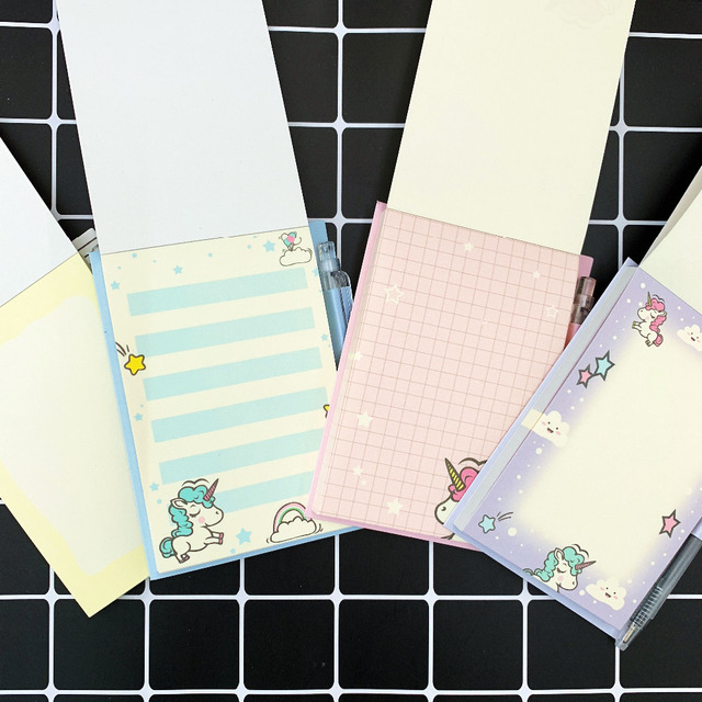 Cute Cartoon Unicorn Printed 50 Sheets Notebook