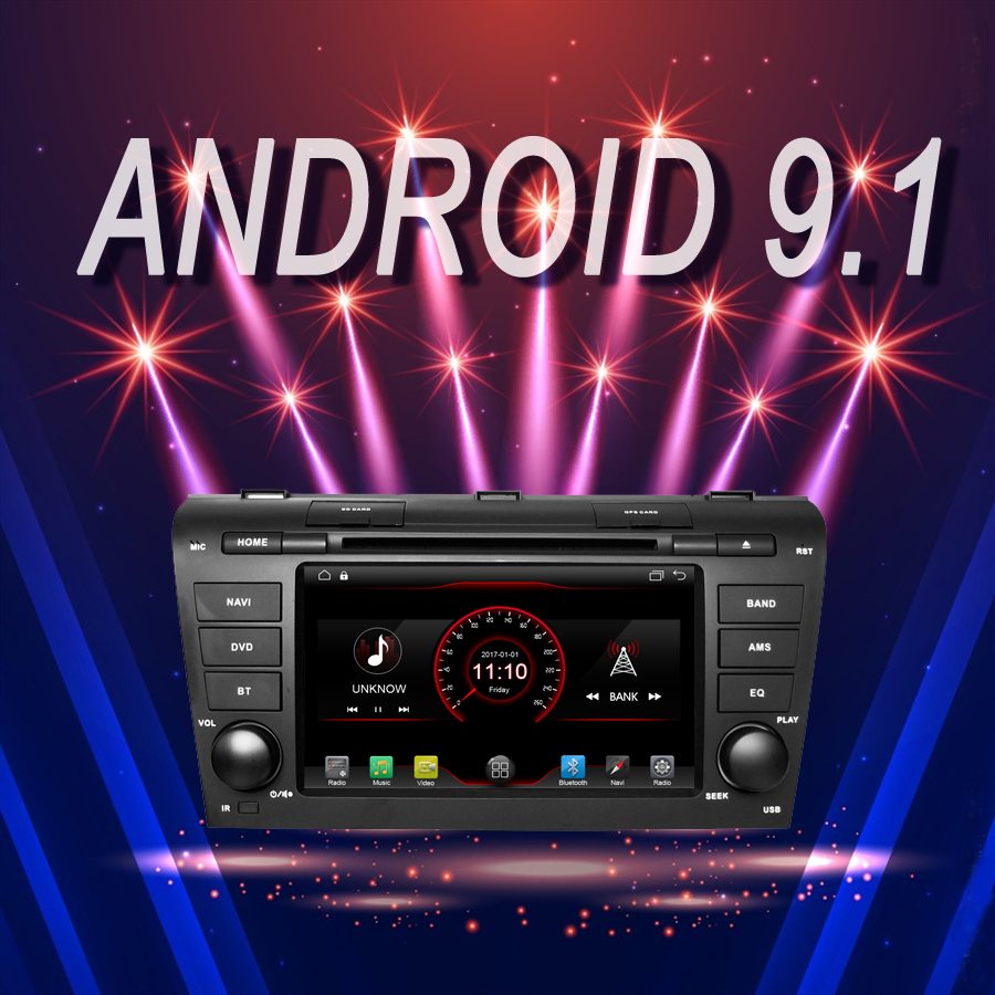 car <font><b>multimedia</b></font> Player Android 9.1 Car GPS Bluetooth stereo fit for OLD <font><b>MAZDA</b></font> <font><b>3</b></font> 2004-2009 recorder DVD autoradio Head Unit image