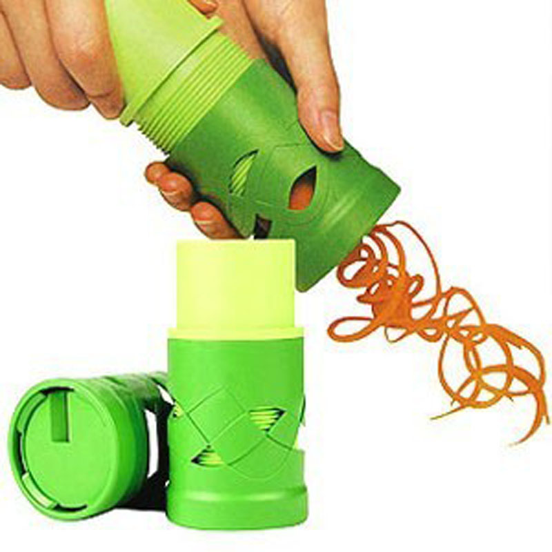 50pcs/lot Vegetable Cutter Fruit Slicer Spiralizer Easy Garnish Veggie Twister P